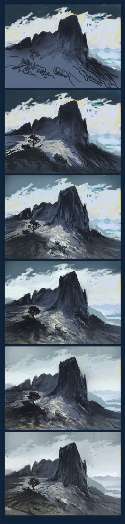 Landscape Digital Tutorial Aaa Landscape Tutorial 3 By Kresbicky On Deviantart
