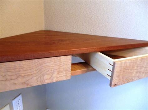 corner shelf with drawer floating corner shelf with drawers finewoodworking