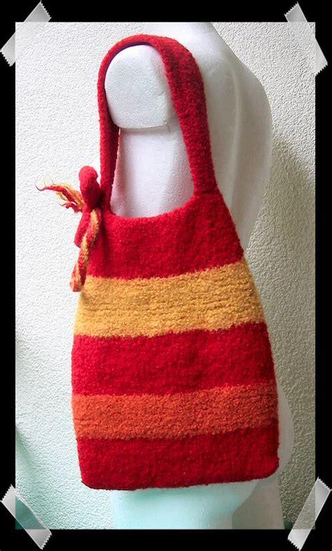 knitting pattern knitting bag friendsheep free patterns felted knitting bag