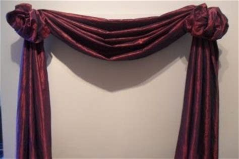 how to hang scarves on curtain rods the third great way to hang your scarf swag curtains