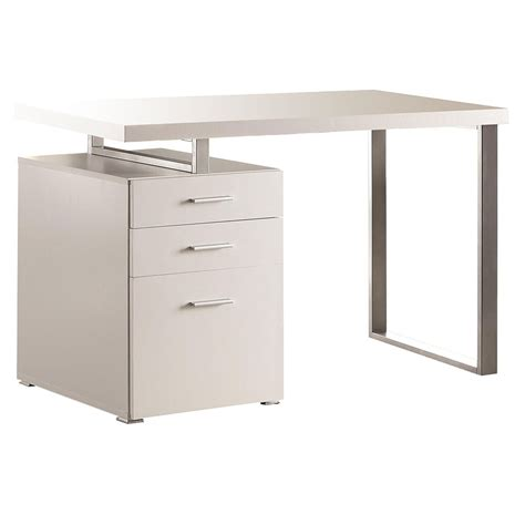 White Modern Desks Modern Desks Carey White Desk Eurway Furniture