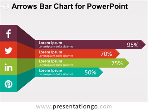 Arrows Bar Chart For Powerpoint Presentationgo Com Powerpoint Graphic Templates