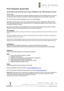 Exle Of A Cover Letter For A by Lifeguard Resume Sales Guard Lewesmr
