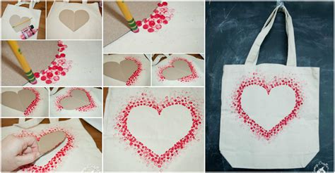 How To Interior Design Your Home Diy Heart Tote Bag How To Instructions