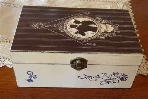 como decorar una caja para guardar joyas ciento volando cajas de madera pintada
