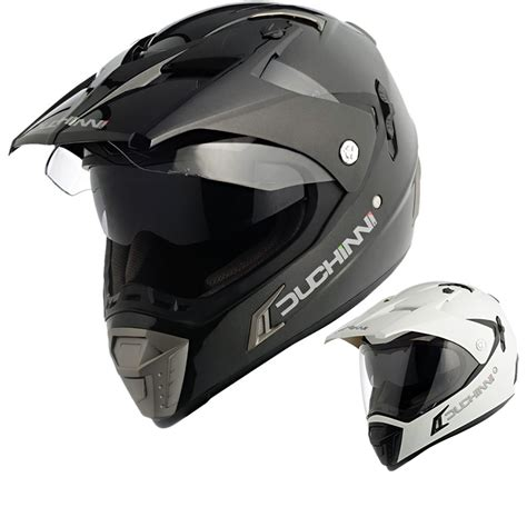 motocross helmet with visor duchinni d311 dual system sports sun visor