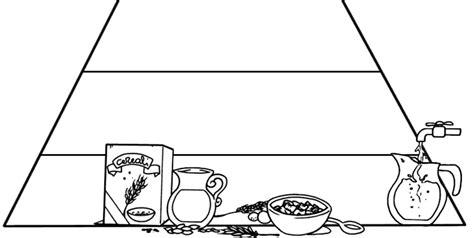 piramide alimentare vuota midisegni disegni da colorare