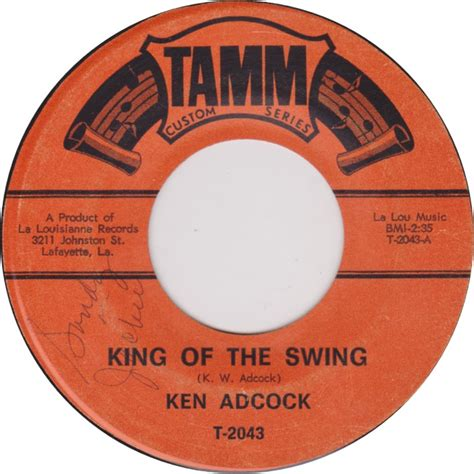 king of the swing 45cat ken adcock king of the swing hooked on love