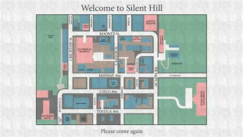 character s residence silent rage location zero to a silent hill origins maps silent hill memories