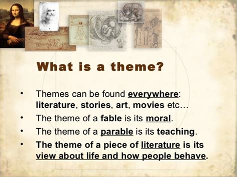 themes within a literature review literary theme review