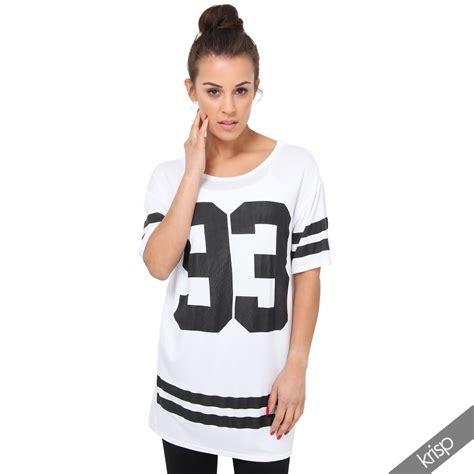7 Of The Best Varsity Inspired Garments by New Womens American Varsity Top Oversized T Shirt Football