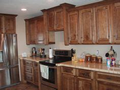 kitchen cabinets w crown moulding ron peters custom kitchen ideas with hickory cabinets notice the crown
