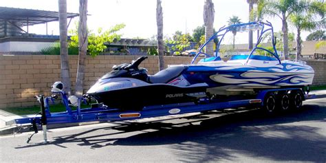 jet ski boat trailer boat and pwc combo trailer shadow trailers