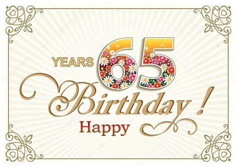 clipart auguri compleanno cartolina d auguri compleanno 65 anni vettoriali stock