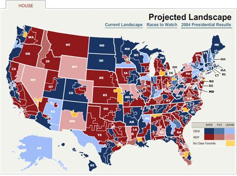 current house of representatives 2008 house of representatives election predictions 10 8 2008 political maps