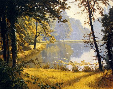 Lukisan 0003 Painting file henri biva a pond 91 4 x 73 7 cm 36 x 29 in