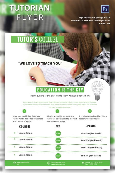 advertising flyer templates free tutoring flyer free psd ai vector eps for on psd business