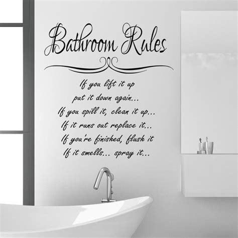 bathroom sayings funny funny bathroom vinyl wall quotes quotesgram