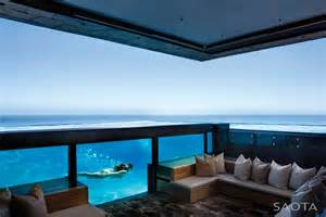 Coastal Kitchen Del Mar - amazing oceanfront house with transparent swimming pool idesignarch interior design