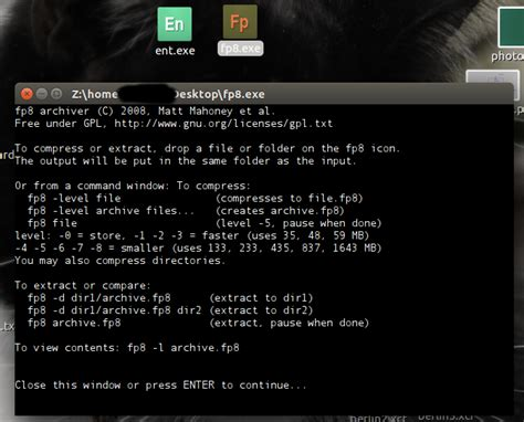 how to run dos ent exe and fp8 exe on ubuntu