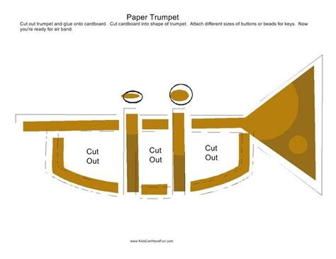 trumpet craft for paper trumpet craft pretend play playtime imagination