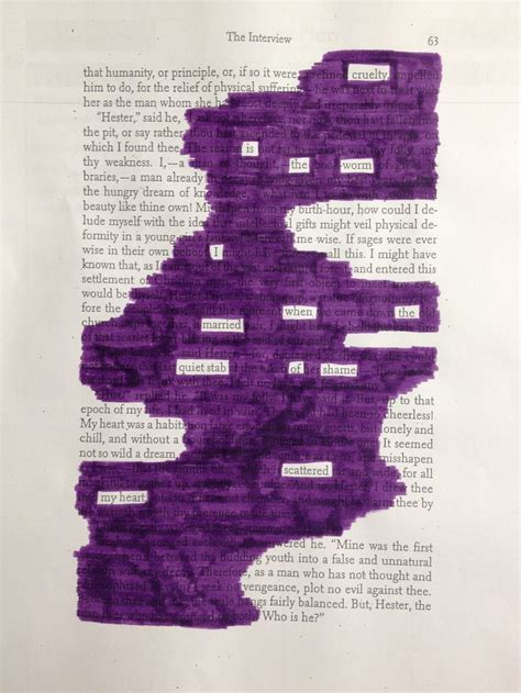themes found in scarlet letter 24 best blackout poetry images on pinterest blackout