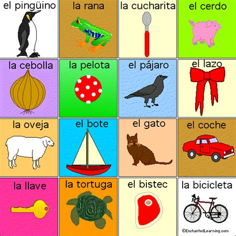 printable board games to learn spanish lotto game spanish board 4 printout