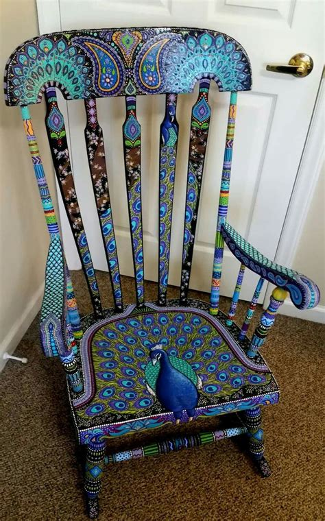 painted armchair i would put this in a nursery proud as a peacock