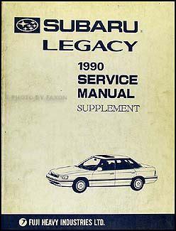 manual repair autos 1990 subaru legacy head up display 1990 subaru legacy repair shop manual supplement original