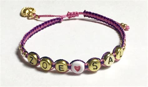 Handmade Bracelets With Names - personalized name bracelet beaded macrame gold letters and