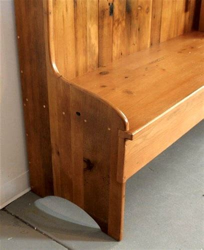 high backed bench farmhouse high back bench from reclaimed wood ecustomfinishes