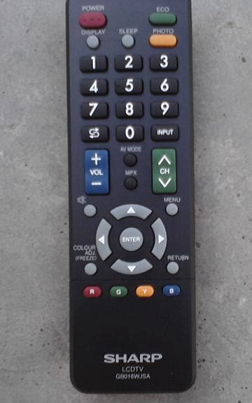 Remot Tv Sharp pernak pernik elektronik elektrikal di sekitar kita
