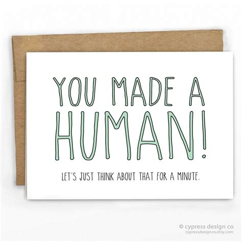 Congrats On Baby Shower by You Made A Human Baby Card Human Babies Baby Cards And