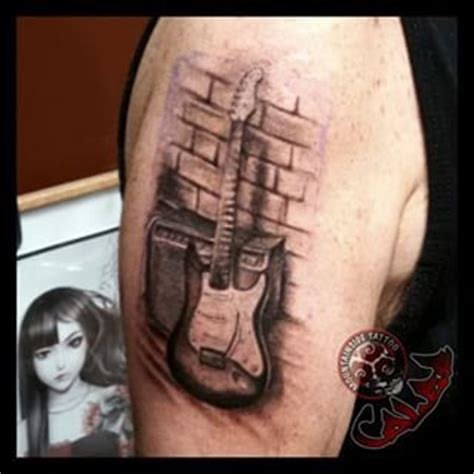 fender tattoos designs 45 best guitar tattoos images on guitar