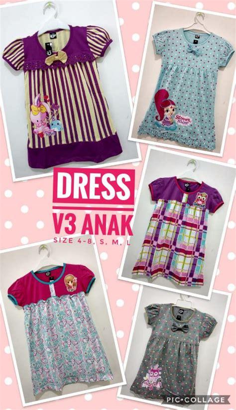 Grosir Dress Anak 6pcs pusat kulakan dress anak terbaru murah 28ribuan