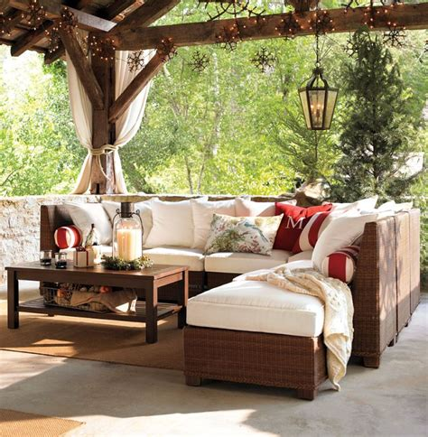 patio living room furniture designing outdoor living room w palmetto sectional by pottery barn modern outdoors