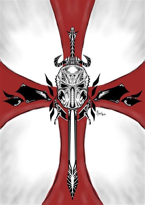 crusaders cross tattoo crusader by dags88crusader on deviantart
