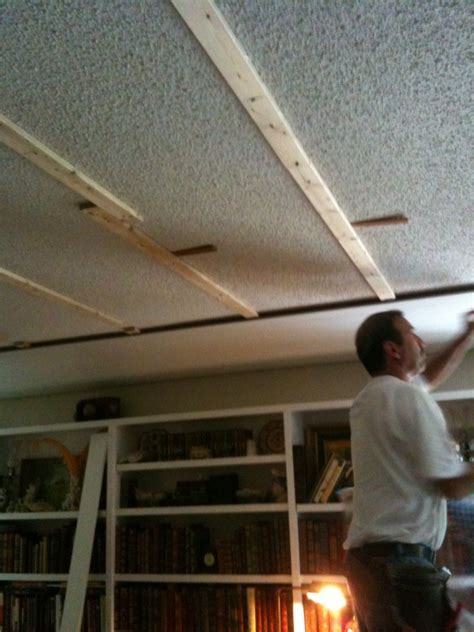 Laminate Ceiling Planks by Magical Ceiling And Floor Makeover Traditional Home