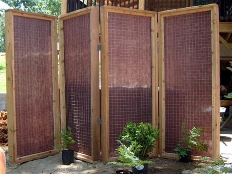 build  privacy screen   outdoor hot tub