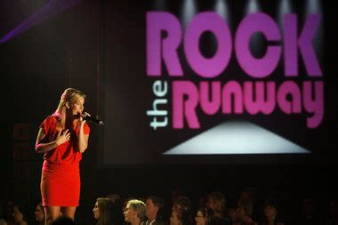 distinguished young women hold rock  runway