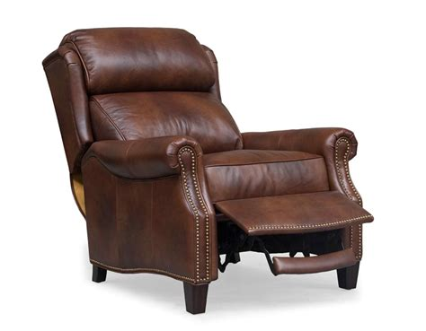 all leather recliner meade all leather recliner worthington cognac 7 3058