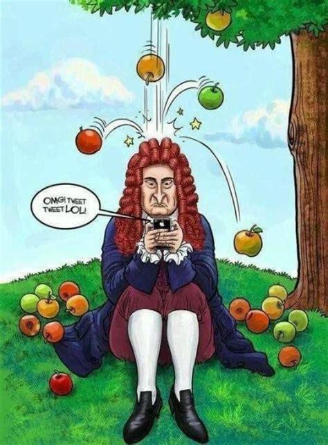 image result  newton apple funny illustration