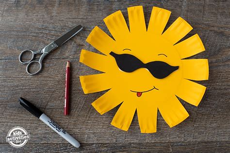 Paper Plate Sun Craft - paper plate sun craft