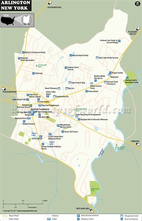 arlington usa map arlington map a community and cdp in dutchess county