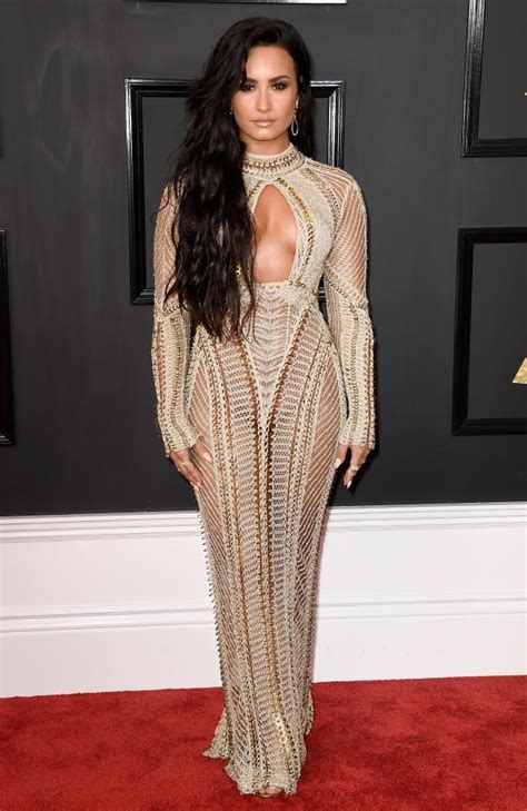 demi lovato red carpet fashion awards major fashion alert on the red carpet at 59th grammy