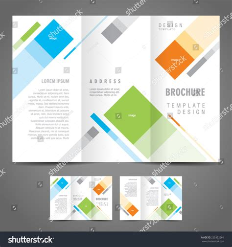 easy brochure template simple brochure design template trifold stock vector