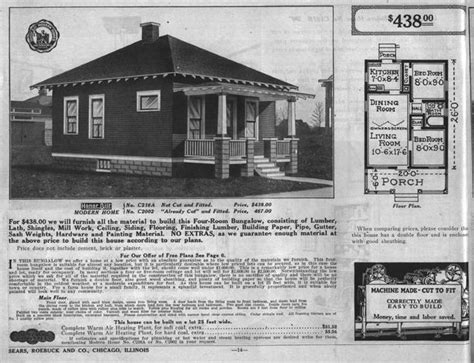 sears kit homes floor plans build like it s 1925 go bungalow