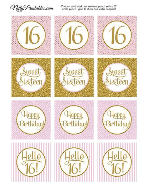 Free Printable Sweet 16 Labels