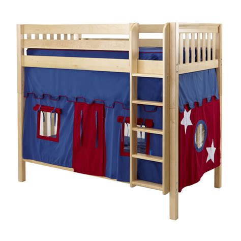 Blue And Red Tall Playhouse Bunk In Natural By Maxtrix 780 1