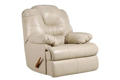 camelot beige leather rocker recliner  gardner white